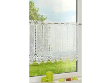 Scheibengardine von LYSEL® - Gräser  (Bx H) 75cm * 45cm weiß
