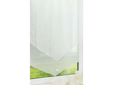 Scheibengardine  von LYSEL® - Quaste  (Bx H) 60cm * 97cm weiß/perlweiß