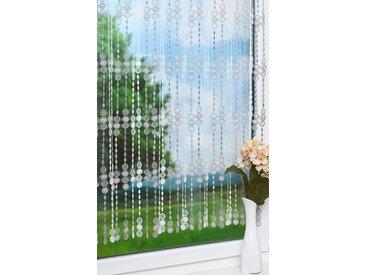 Scheibengardine  von LYSEL® - Perlenschnur  (Bx H) 75cm * 50cm grau