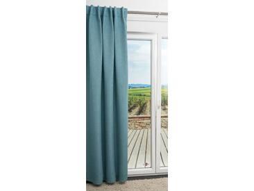 Vorhang von LYSEL® - Diamond Uni in den Maßen Breite: 140cm Höhe: 245cm in Blau/taubenblau