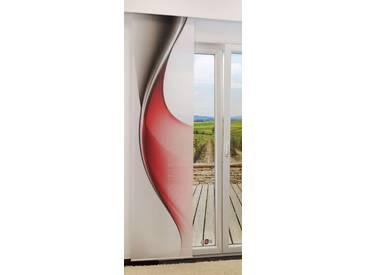 Flächengardine  von LYSEL® - Twist lichtdurchlässig mit Motiv in den Maßen 245 cm x 60 cm rot/rotgrau