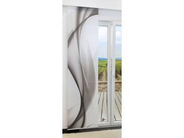 Schiebevorhang  von LYSEL® - Swirl IV lichtdurchlässig mit Motiv in den Maßen 245 cm x 60 cm grau/grauweiß