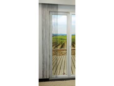 Flächengardine  von LYSEL® - Libra transparent einfarbig in den Maßen 240 cm x 50 cm grau/dunkelgrau