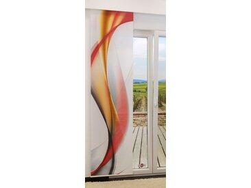 Schiebevorhang  von LYSEL® - Swirl IV lichtdurchlässig mit Motiv in den Maßen 245 cm x 60 cm rot/orangerot