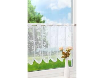 Scheibengardine von LYSEL® - Ranken (Bx H) 128cm * 60cm weiß