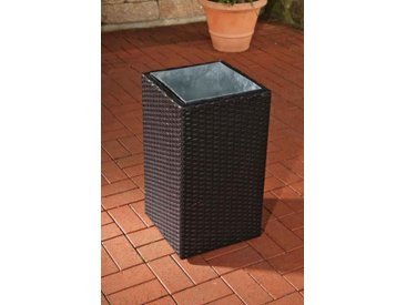 Poly-Rattan Blumenkübel CP001, Blumentopf ~ 62,5x36x36 cm, schwarz