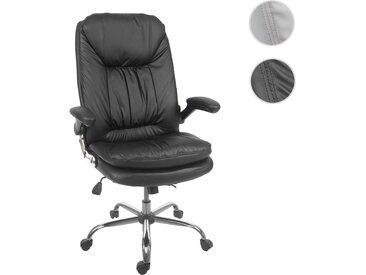 Bürostuhl HWC-F81, Schreibtischstuhl Chefsessel Drehstuhl, Federkern Kunstleder