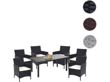 Poly-Rattan-Garnitur Halden, Gartenmöbel Balkon-Set Sitzgarnitur