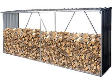 Brennholzlager HWC-F22, Holzunterstand Brennholzregal Holzlager Kaminholzregal, 3,35m³ Metall verzinkt 153x353x80cm