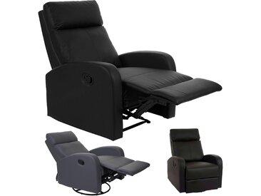Fernsehsessel HWC-A54 Premium, Relaxsessel Schaukelstuhl Wippfunktion, drehbar Kunstleder