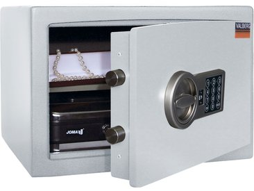 Wertschutzschrank Valberg H28, Möbeltresor mit Elektronikschloss, grau 30x44x38cm