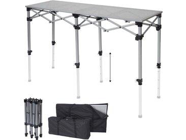 Multifunktionstisch HWC-A23, Tisch Klapptisch Bartisch Werktisch Falttisch, höhenverstellbar