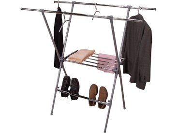 Mehrzweckständer H64, Wäscheständer Kleiderständer, 147x154x70cm
