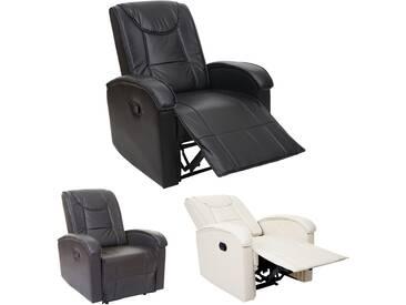 Fernsehsessel HWC-T964, Relaxsessel Sessel, Kunstleder 140kg belastbar