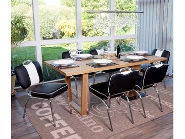 6x Esszimmerstuhl Avellino, Stuhl Lehnstuhl, Retro 50er Jahre Design, Kunstleder