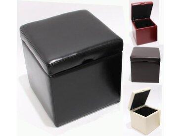 2er Set Hocker Sitzwürfel Sitzhocker Aufbewahrungsbox Onex, LEDER, 45x44x44cm