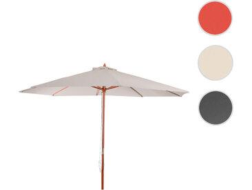Sonnenschirm Florida, Gartenschirm Marktschirm, Ø 3,5m Polyester/Holz 7kg