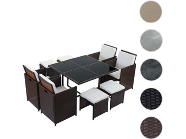 Poly-Rattan Garten-Garnitur Kreta, Lounge-Set Sitzgruppe