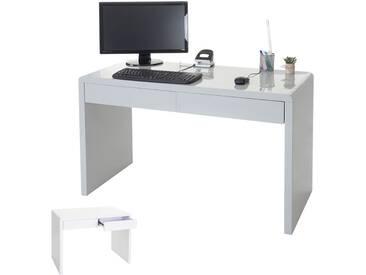 Design Schreibtisch Edmonton, Bürotisch Computertisch, Hochglanz 120x50cm,  FSC Zertifiziert