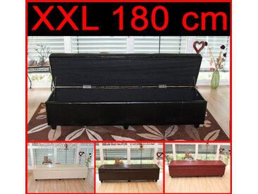 Aufbewahrungs-Truhe Kriens XXL, Leder, 180x45x45cm