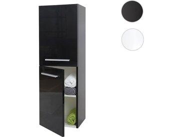 Hängeschrank HWC-C11, Midischrank Badschrank Badezimmer Badmöbel, hochglanz 110x35cm
