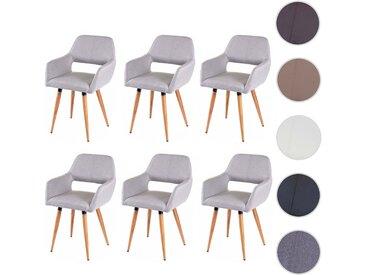6x Esszimmerstuhl HWC-D87 II, Stuhl Küchenstuhl, Retro 50er Jahre Design