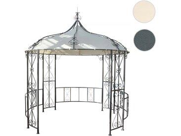 Pergola Almeria, Rundpavillon Garten Pavillon, stabiles Stahl-Gestell