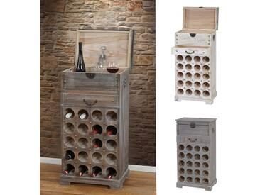 Weinregal Lucan T323, Flaschenregal Regal für 20 Flaschen, 94x48x31cm, Shabby-Look, Vintage