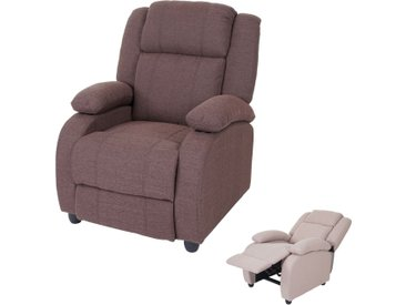 Fernsehsessel Lincoln, Relaxsessel Liege Sessel, Stoff/Textil