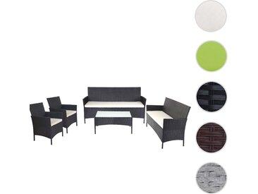 3-2-1-1 Poly-Rattan Garten-Garnitur Halden, Sitzgruppe
