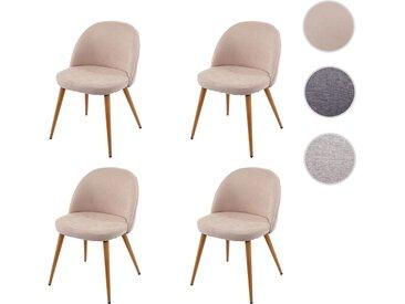 4x Esszimmerstuhl HWC-D53, Stuhl Küchenstuhl, Retro 50er Jahre Design, Stoff/Textil