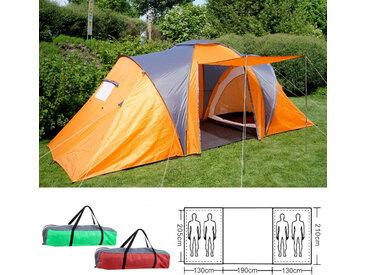 Campingzelt Loksa, 4-Mann Zelt Kuppelzelt Igluzelt Festival-Zelt, 4 Personen