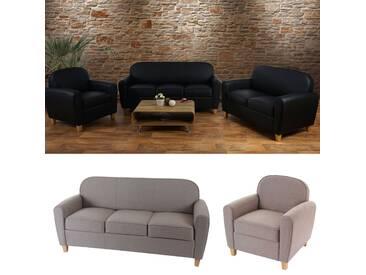 3-2-1 Sofagarnitur Malmö T377, Couch Loungesofa, Retro 50er Jahre Design
