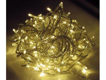 LED Lichterkette LD05, Leuchtkette, für Außen und Innen ~ Kabel schwarz, 96 LEDs, warmweiß