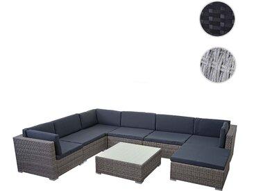 Poly-Rattan Garnitur HWC-E28, Gartengarnitur Sitzgruppe