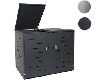 2er-/4er-Mülltonnenverkleidung HWC-E83, Mülltonnenbox Mülltonnenabdeckung, erweiterbar 108x61x94cm