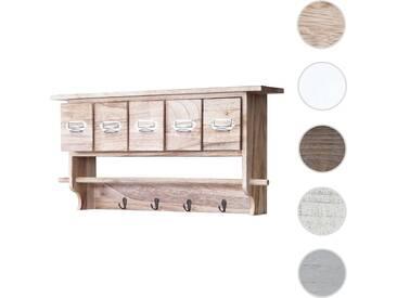 Küchenregal HWC-C49, Haushaltsregal Regal, Vintage mit 5 Schubladen 32x65x13cm