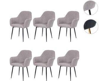 6x Esszimmerstuhl HWC-F18, Stuhl Küchenstuhl, Retro Design