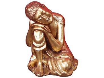 Deko-Figur H49, Buddha-Figur, 36x24x22cm ~ Gold-Optik