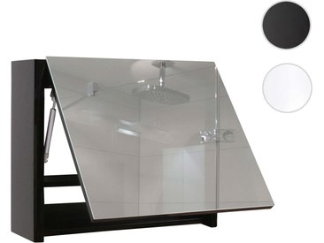 Spiegelschrank HWC-B19, Wandspiegel Badspiegel Badezimmer, aufklappbar hochglanz 48x79cm