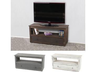 TV-Rack Fernsehtisch Lowboard TV-Regal, Shabby-Look, Vintage