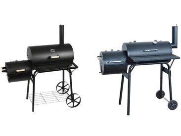 Barbecue-Smoker Grill Standgrill Räucherofen, schwarz