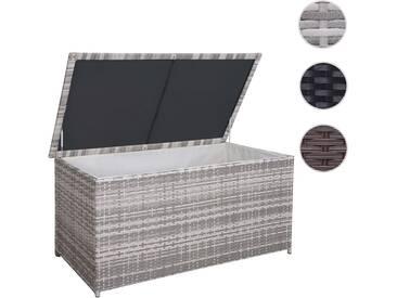 XXL Poly-Rattan Kissenbox HWC-D43, Truhe Auflagenbox Gartentruhe, 80x160x95cm 950l