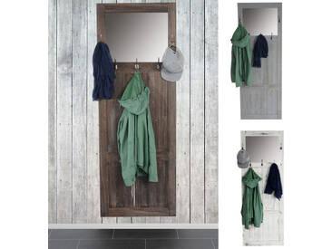 Garderobe Wandgarderobe mit Spiegel Wandhaken 180x65x7cm, Shabby-Look, Vintage