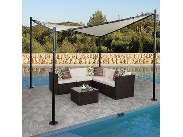 Pergola HWC-F85, Garten Pavillon Sonnensegel, stabiles Stahl-Gestell