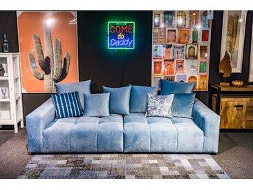 Big Sofa RIVA, Wohnlandschaft in Blau als 3,5 Sitzer