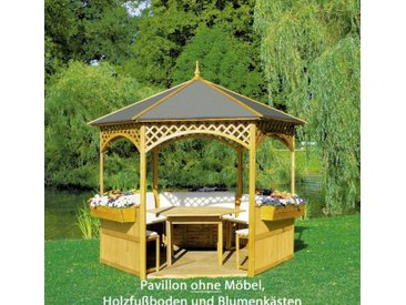 "Pavillon ""Marion II"", Kiefer/Dachpappe, 278x278cm, ohne Möbel, Gartenpavillon, Garten, Gartendeko, Gartenmöbel, Gartenausstattung"
