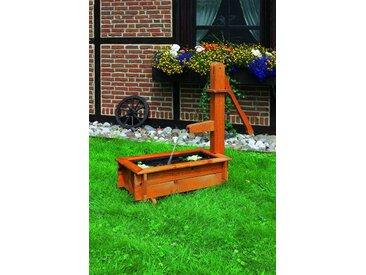"""Holztrog """"Marietta VI"""", honigbraun, Kiefer, 110x40x100cm, Solarpumpe, Wasserlauf, Teichfolie, Garten, Gartenteich, Teich, Wasserspiel, Gartenhochteich"""