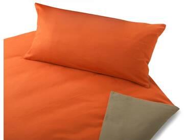 Cotonea Biber Bio Bettwäsche orange/sand