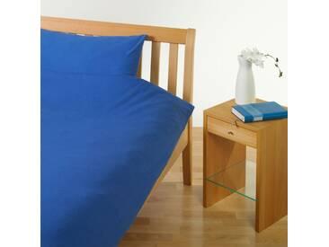 Cotonea Jersey Uni Bettwäsche blau